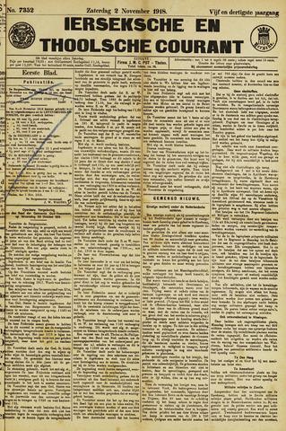 Ierseksche en Thoolsche Courant 1918-11-02