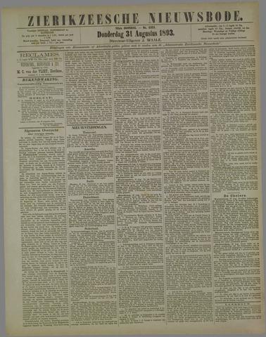 Zierikzeesche Nieuwsbode 1893-08-31