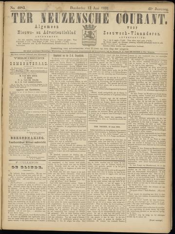 Ter Neuzensche Courant. Algemeen Nieuws- en Advertentieblad voor Zeeuwsch-Vlaanderen / Neuzensche Courant ... (idem) / (Algemeen) nieuws en advertentieblad voor Zeeuwsch-Vlaanderen 1901-06-13