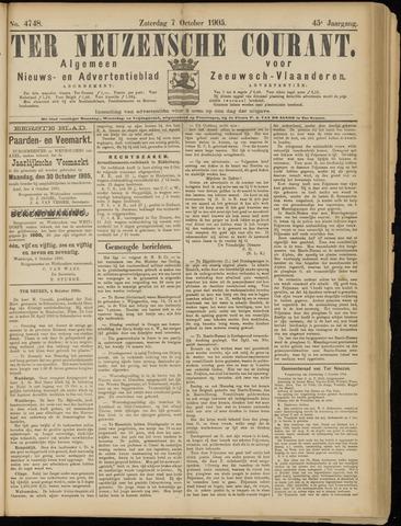 Ter Neuzensche Courant. Algemeen Nieuws- en Advertentieblad voor Zeeuwsch-Vlaanderen / Neuzensche Courant ... (idem) / (Algemeen) nieuws en advertentieblad voor Zeeuwsch-Vlaanderen 1905-10-07