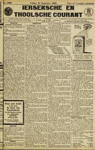 Ierseksche en Thoolsche Courant 1926-09-10