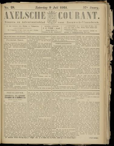 Axelsche Courant 1921-07-09