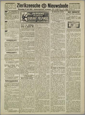 Zierikzeesche Nieuwsbode 1922-07-12