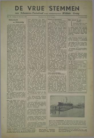 Vrije Stemmen van Schouwen-Duiveland, tevens mededeelingenblad Militair Gezag 1945-11-23
