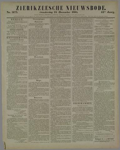 Zierikzeesche Nieuwsbode 1885-12-24