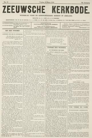 Zeeuwsche kerkbode, weekblad gewijd aan de belangen der gereformeerde kerken/ Zeeuwsch kerkblad 1938-03-18