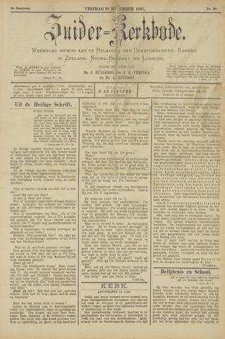Zuider Kerkbode, Weekblad gewijd aan de belangen der gereformeerde kerken in Zeeland, Noord-Brabant en Limburg. 1897-12-10