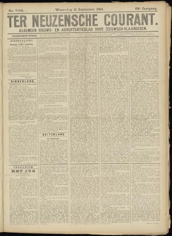 Ter Neuzensche Courant. Algemeen Nieuws- en Advertentieblad voor Zeeuwsch-Vlaanderen / Neuzensche Courant ... (idem) / (Algemeen) nieuws en advertentieblad voor Zeeuwsch-Vlaanderen 1924-09-10