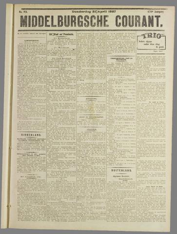 Middelburgsche Courant 1927-04-21