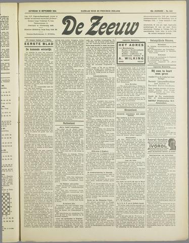 De Zeeuw. Christelijk-historisch nieuwsblad voor Zeeland 1934-09-15