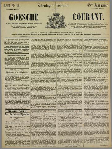 Goessche Courant 1881-02-05