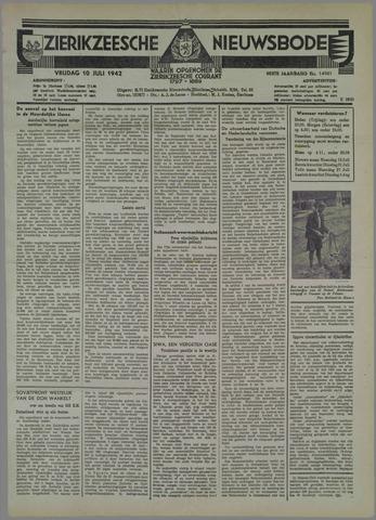 Zierikzeesche Nieuwsbode 1942-07-10