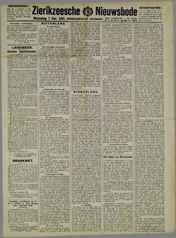 Zierikzeesche Nieuwsbode 1921-12-07