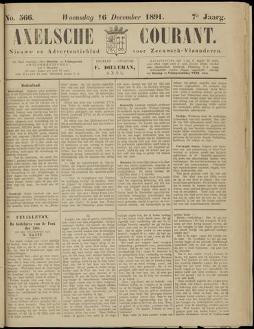 Axelsche Courant 1891-12-16