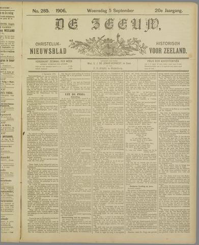 De Zeeuw. Christelijk-historisch nieuwsblad voor Zeeland 1906-09-05