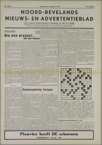 Noord-Bevelands Nieuws- en advertentieblad 1973-09-27