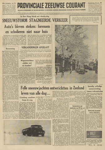 Provinciale Zeeuwse Courant 1958-01-23