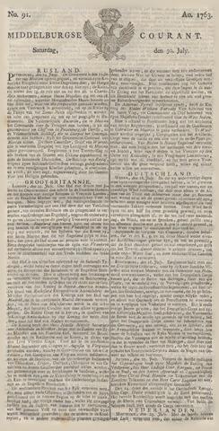 Middelburgsche Courant 1763-07-30