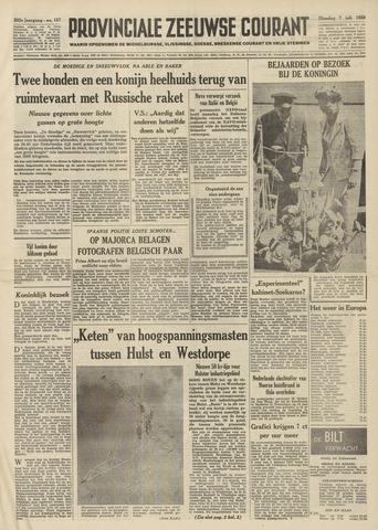 Provinciale Zeeuwse Courant 1959-07-07