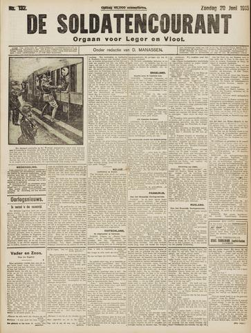 De Soldatencourant. Orgaan voor Leger en Vloot 1915-06-20