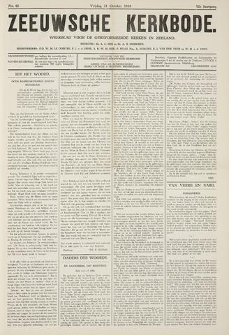 Zeeuwsche kerkbode, weekblad gewijd aan de belangen der gereformeerde kerken/ Zeeuwsch kerkblad 1938-10-21