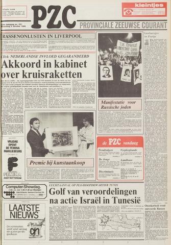 Provinciale Zeeuwse Courant 1985-10-02