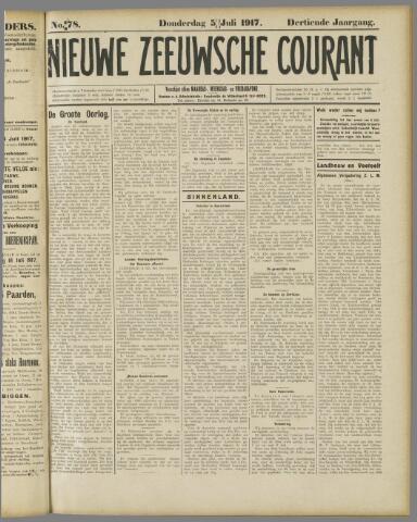 Nieuwe Zeeuwsche Courant 1917-07-05