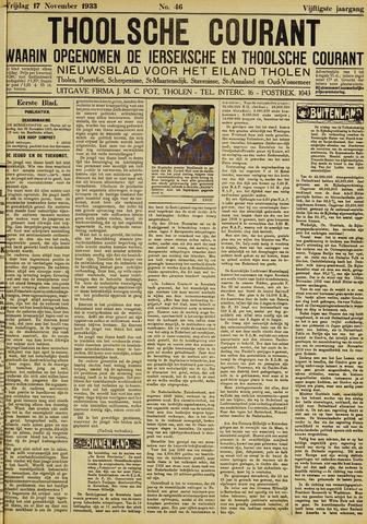 Ierseksche en Thoolsche Courant 1933-11-17
