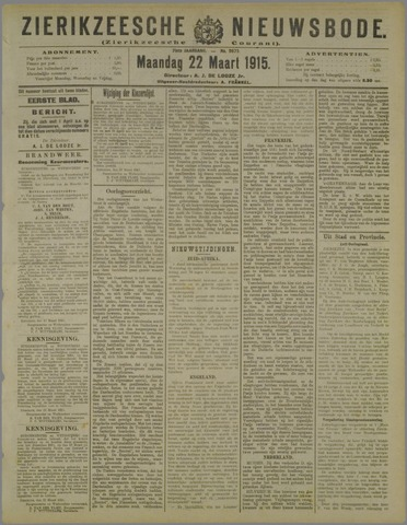 Zierikzeesche Nieuwsbode 1915-03-22