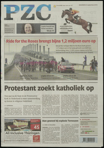 Provinciale Zeeuwse Courant 2014-09-08