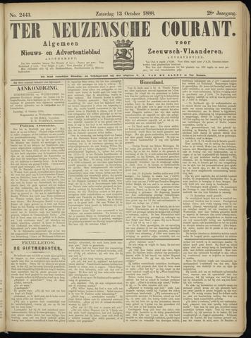 Ter Neuzensche Courant. Algemeen Nieuws- en Advertentieblad voor Zeeuwsch-Vlaanderen / Neuzensche Courant ... (idem) / (Algemeen) nieuws en advertentieblad voor Zeeuwsch-Vlaanderen 1888-10-13
