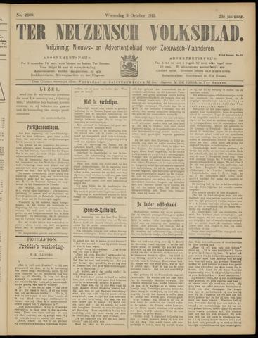 Ter Neuzensch Volksblad. Vrijzinnig nieuws- en advertentieblad voor Zeeuwsch- Vlaanderen / Zeeuwsch Nieuwsblad. Nieuws- en advertentieblad voor Zeeland 1912-10-09
