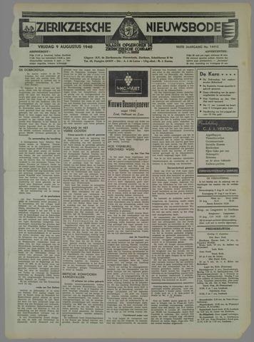 Zierikzeesche Nieuwsbode 1940-08-09