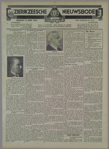 Zierikzeesche Nieuwsbode 1936-04-14