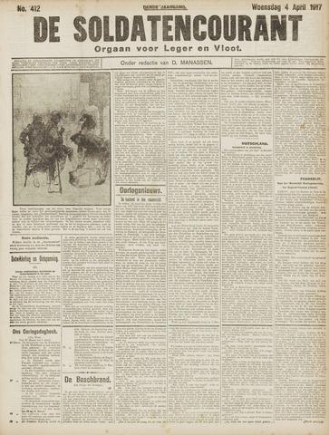 De Soldatencourant. Orgaan voor Leger en Vloot 1917-04-04