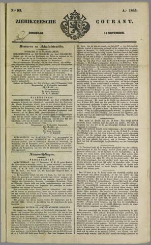 Zierikzeesche Courant 1844-11-19