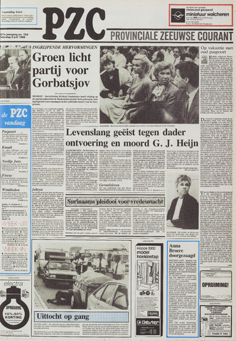 Provinciale Zeeuwse Courant 1988-07-02