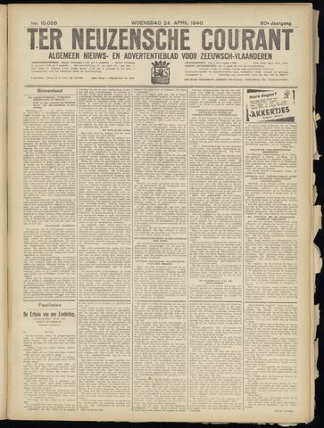 Ter Neuzensche Courant. Algemeen Nieuws- en Advertentieblad voor Zeeuwsch-Vlaanderen / Neuzensche Courant ... (idem) / (Algemeen) nieuws en advertentieblad voor Zeeuwsch-Vlaanderen 1940-04-24