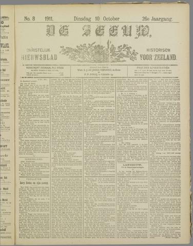 De Zeeuw. Christelijk-historisch nieuwsblad voor Zeeland 1911-10-10