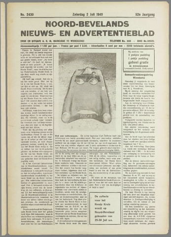 Noord-Bevelands Nieuws- en advertentieblad 1949-07-02