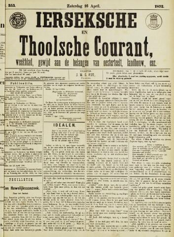 Ierseksche en Thoolsche Courant 1892-04-16