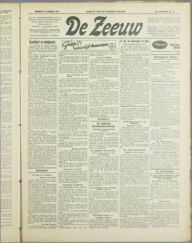 De Zeeuw. Christelijk-historisch nieuwsblad voor Zeeland 1937-01-18