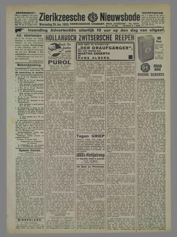 Zierikzeesche Nieuwsbode 1933-01-25