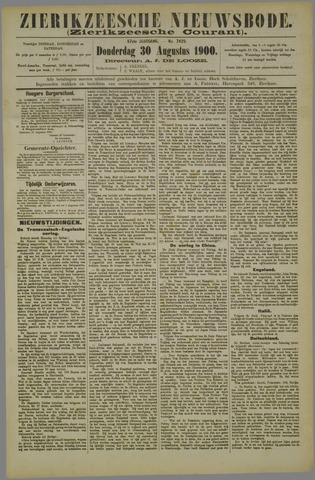 Zierikzeesche Nieuwsbode 1900-08-30