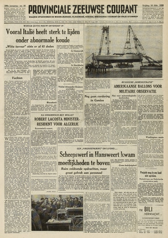 Provinciale Zeeuwse Courant 1956-02-10
