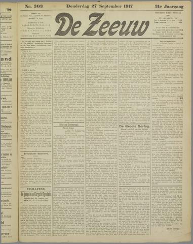 De Zeeuw. Christelijk-historisch nieuwsblad voor Zeeland 1917-09-27