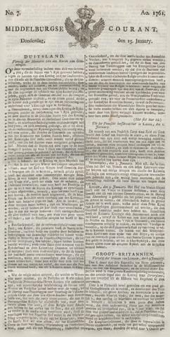 Middelburgsche Courant 1761-01-15