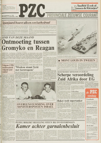 Provinciale Zeeuwse Courant 1984-09-12
