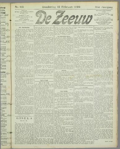 De Zeeuw. Christelijk-historisch nieuwsblad voor Zeeland 1920-02-12