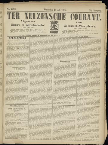 Ter Neuzensche Courant. Algemeen Nieuws- en Advertentieblad voor Zeeuwsch-Vlaanderen / Neuzensche Courant ... (idem) / (Algemeen) nieuws en advertentieblad voor Zeeuwsch-Vlaanderen 1889-07-24